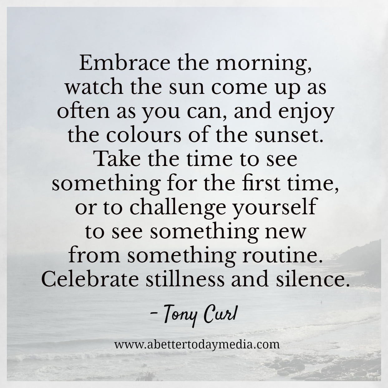 Addicted to Distraction - Celebrate the stillness